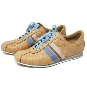 💯 Auth Gucci Guccissima Sneaker Leather Shoes